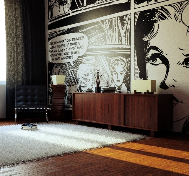 comic book wallpaper swagger magazine. Black Bedroom Furniture Sets. Home Design Ideas
