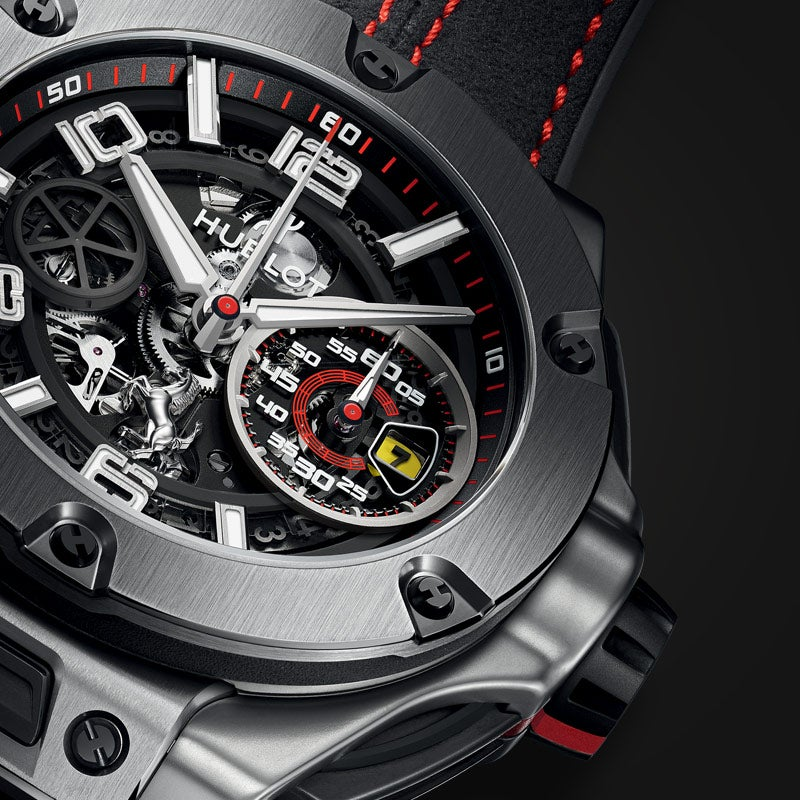 Hublot x Ferrari watch closeup