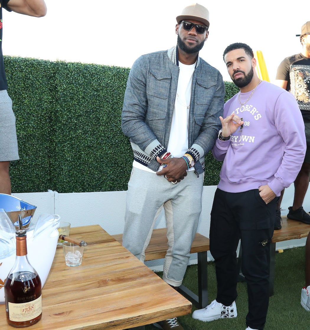 Drake and Lebron James - OVO Weekend Party at Lavelle