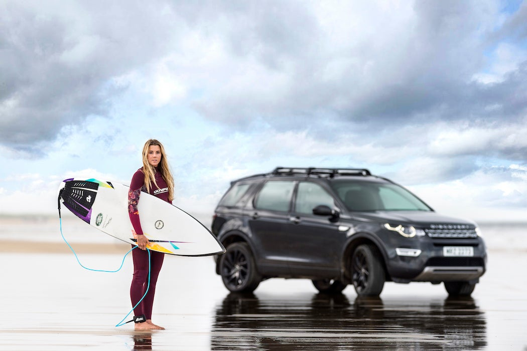 Jaguar Land Rover Surfboard ft Lucy Campbell