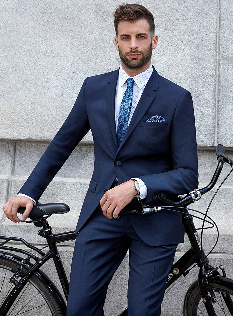 Simons Navy Slim Suit - Swagger Magazine