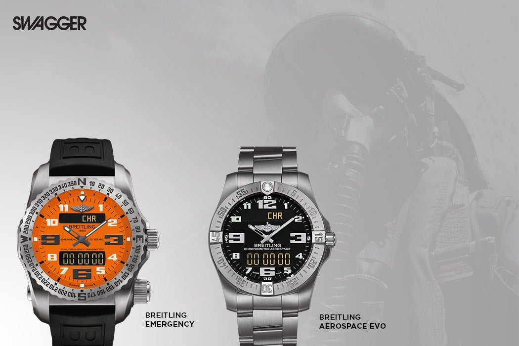 Breitling Emergency and Aerospace EVO (Photo: Courtesy of Breitling/Swagger)