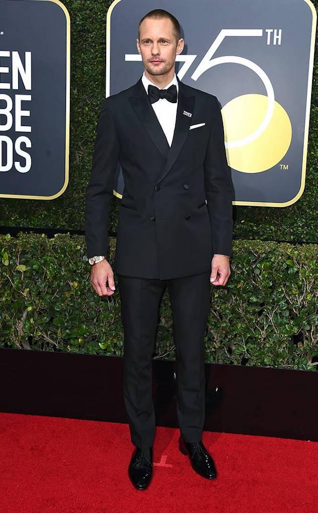 Alecander Skasgard - 2018 Golden Globes - SWAGGER Magazine