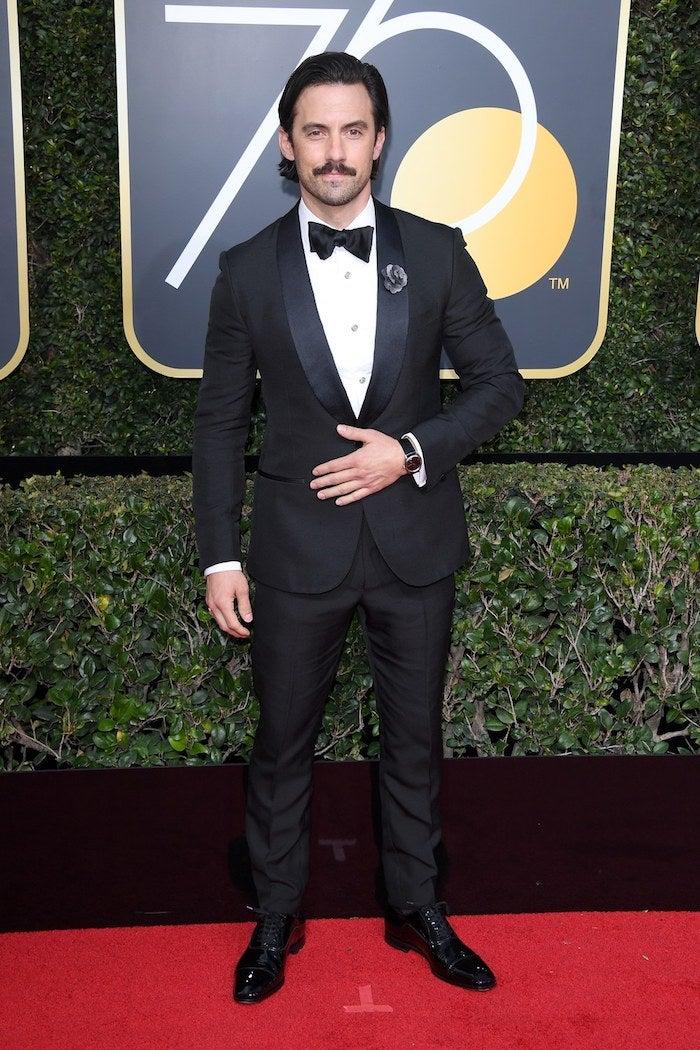 Milo Ventimiglia - 2018 Golden Globes - SWAGGER Magazine