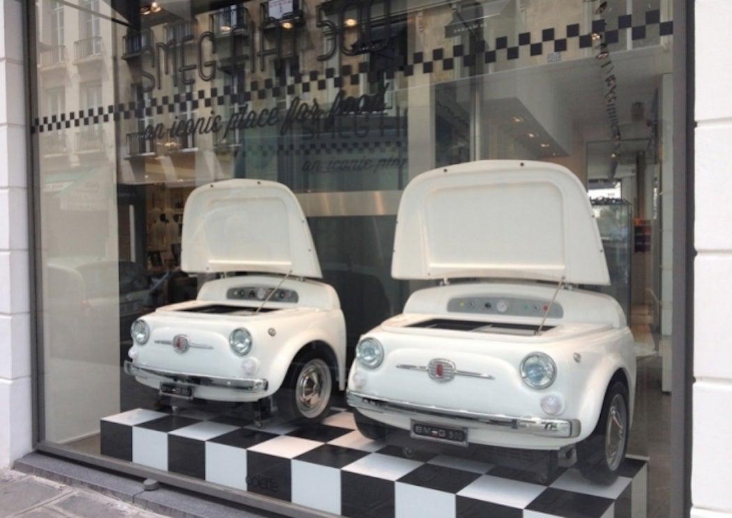 Smeg & Fiat 500 Refrigerator / SWAGGER Magazine
