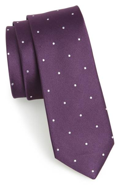 Ultra Violet Woven Silk Tie, The Tie Bar / SWAGGER Magazine