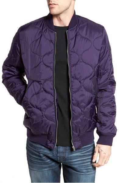 Meefic Bomber Overshirt G-STAR RAW in Ultra Violet / SWAGGER Magazine