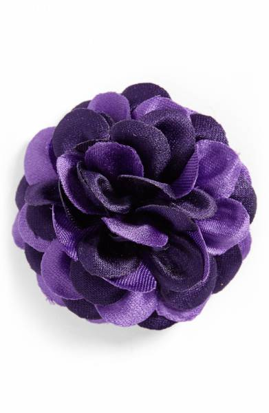 Lapel Flower HOOK + ALBERT in Ultra Violet Pantone / SWAGGER Magazine
