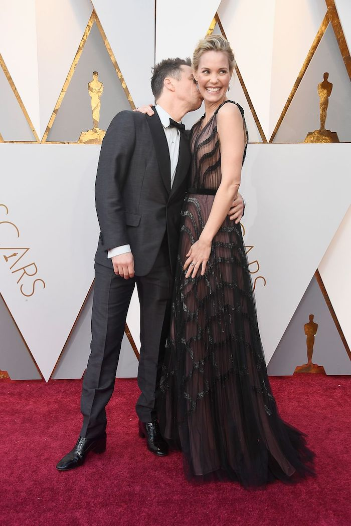 Sam Rockwell & Leslie Bibb - 2018 Oscars Red Carpet Best Dressed - SWAGGER Magazine