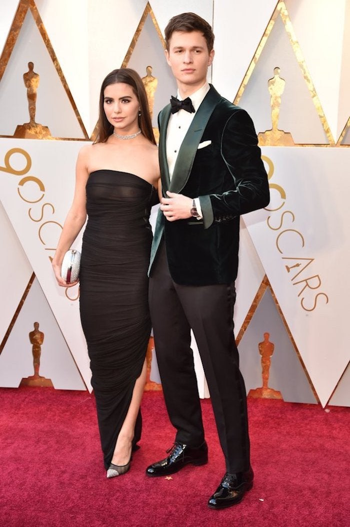 Ansel Elgort and Violetta Komyshan - 2018 Oscars Red Carpet Best Dressed - SWAGGER Magazine