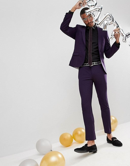 Asos Noose and Monkey Super Skinny Wool Suit in Ultra Violet Pantone / SWAGGER Magazine