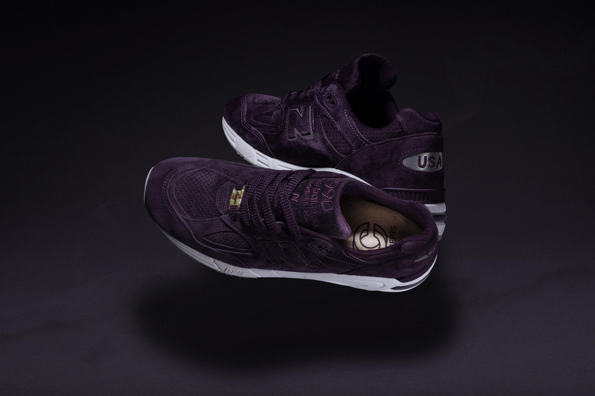 """Concepts x New Balance 990 """"Tyrian"""" Sneakers / SWAGGER Magazine"""