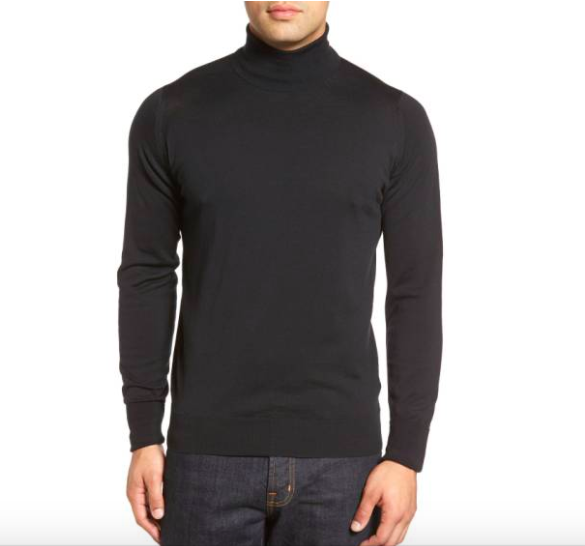 John Smedley 'Richards' Easy Fit Turtleneck Wool Sweater - Men's Staples / SWAGGER Magazine