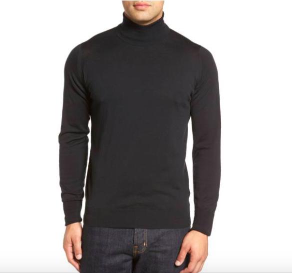 John Smedley 'Richards' Easy Fit Turtleneck Wool Sweater - Men's Staples / SWAGGER Magazine
