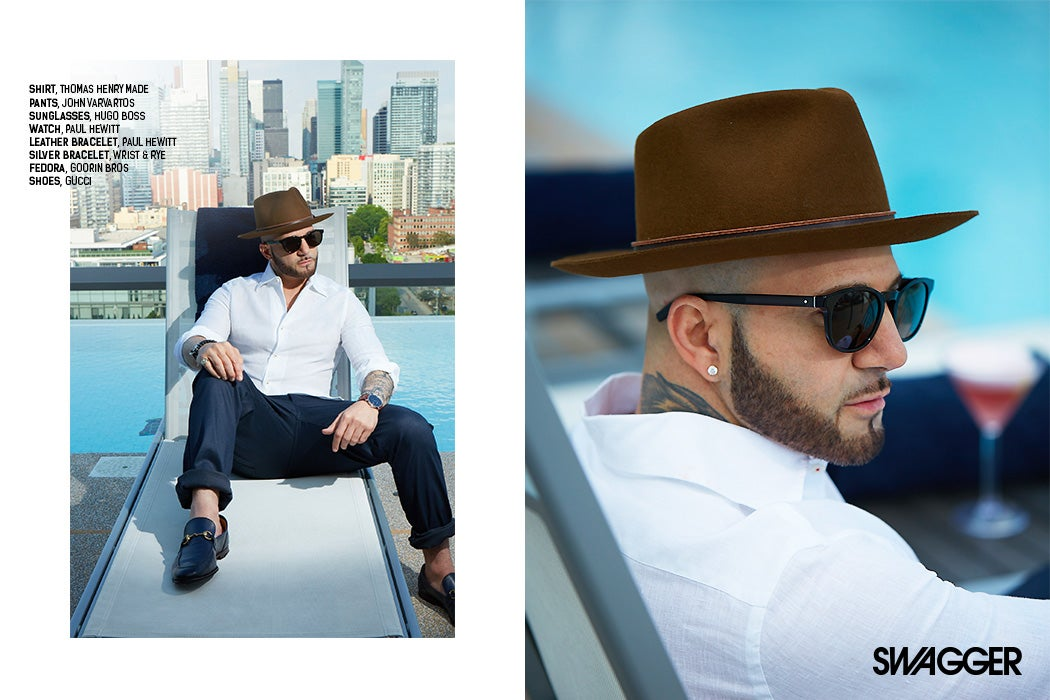 Karl Wolf - Thompson Toronto Hotel rooftop / SWAGGER Magazine