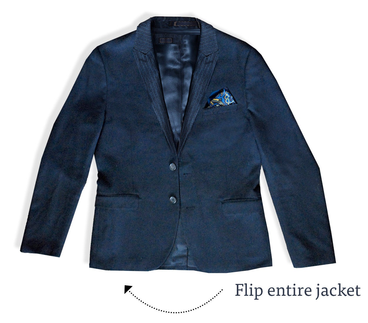 How to pack a suit | Step 1