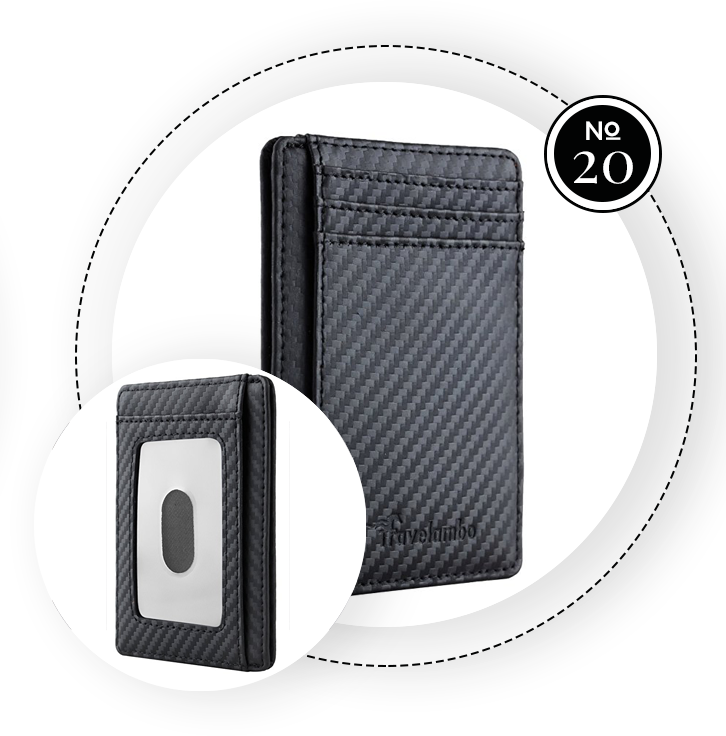 TRAVELAMBO FRONT POCKET MINIMALIST LEATHER SLIM WALLET / SWAGGER Magazine