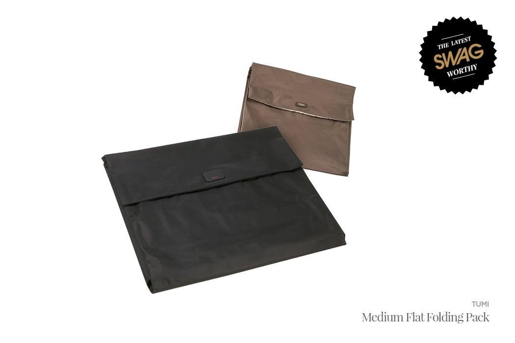 Tumi Flat Folding Pack - #SWAGWorthy Travel Essentials | SWAGGER Magazine