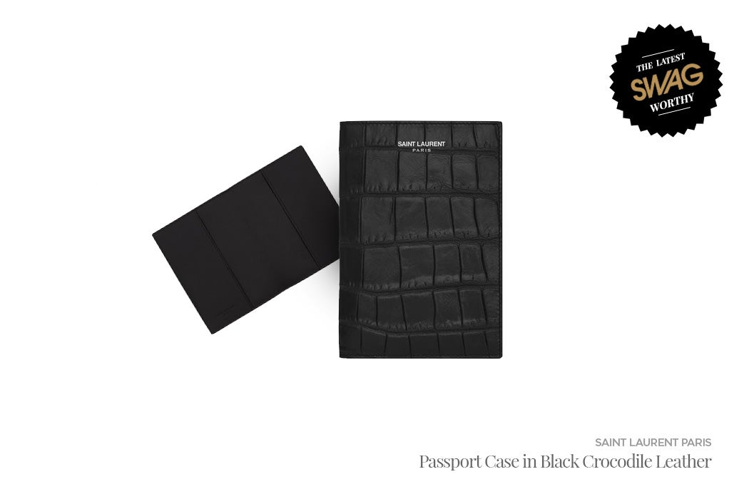 Saint Laurent Paris Passport Case - #SWAGWorthy Travel Essentials | SWAGGER Magazine
