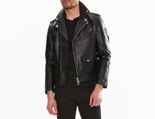 Belstaff Sidmouth Biker Leather Jacket in Black | SWAGGER Magazine