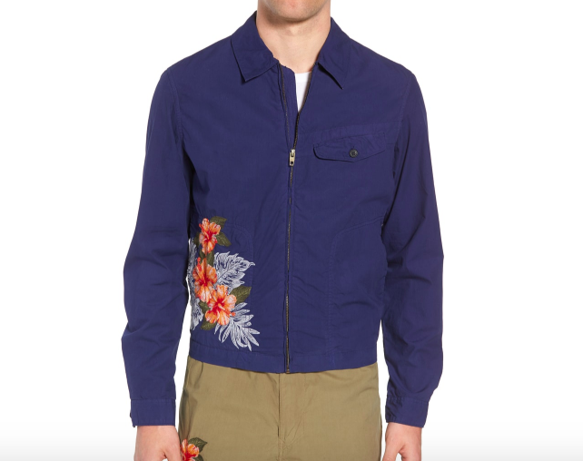 French Connection Embroidered Poplin Harrington Jacket | SWAGGER Magazine