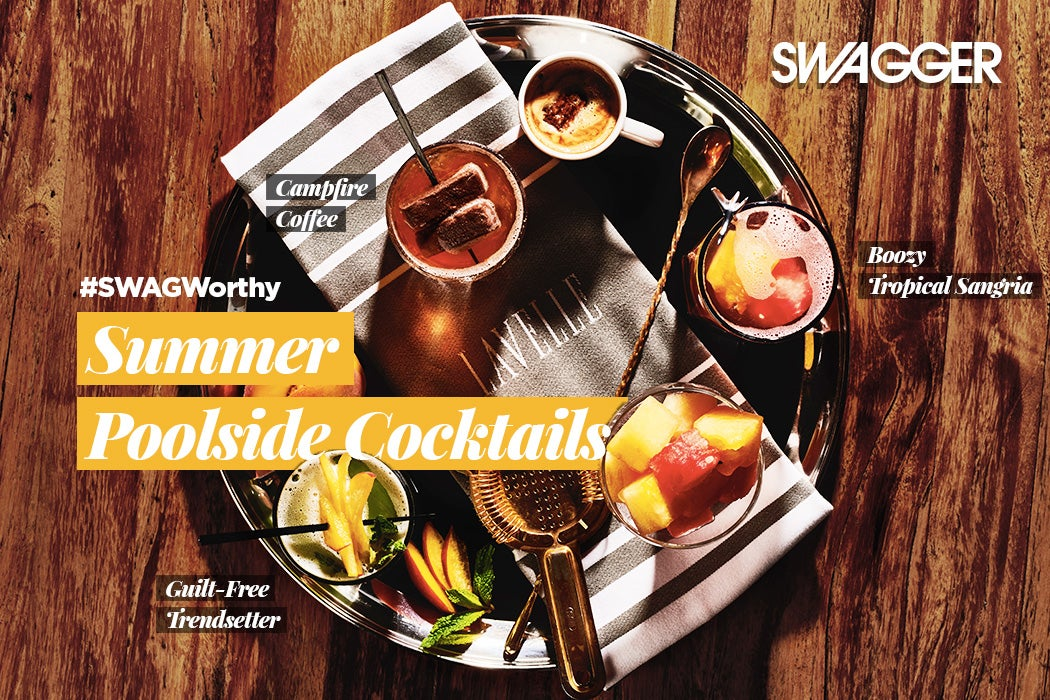 #SwagWorthy Summer Poolside Cocktails - Flatlay - Lavelle Toronto | SWAGGER Magazine