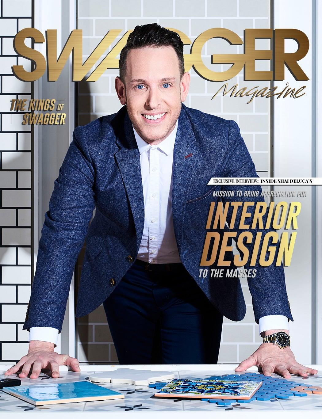 Shai DeLuca-Tamasi - Toronto Interior Designer - Mettro Source Tiles - SWAGGER Magazine Cover