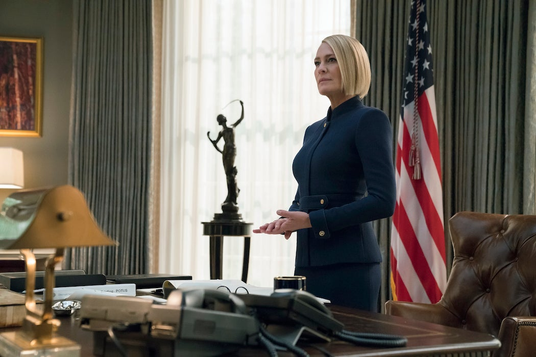 Robin Wright in Netflix's Final Season of The House of Cards | SWAGGER Magazine