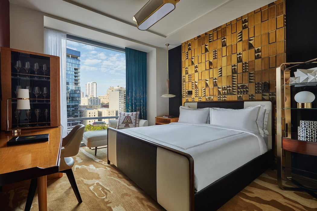 Guest Room at The Vicroy hotel in Chicago (Photo: Courtesy of The Vicroy hotel) | SWAGGER Magazine