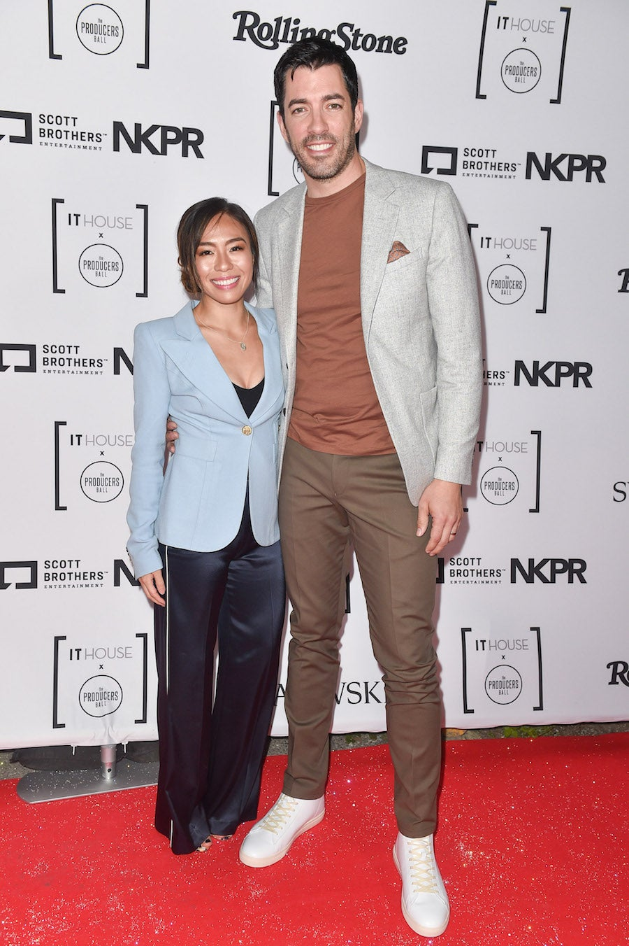 Drew Scott, Linda Phan - Producers Ball IT House TIFF 2018 | SWAGGER Magazine