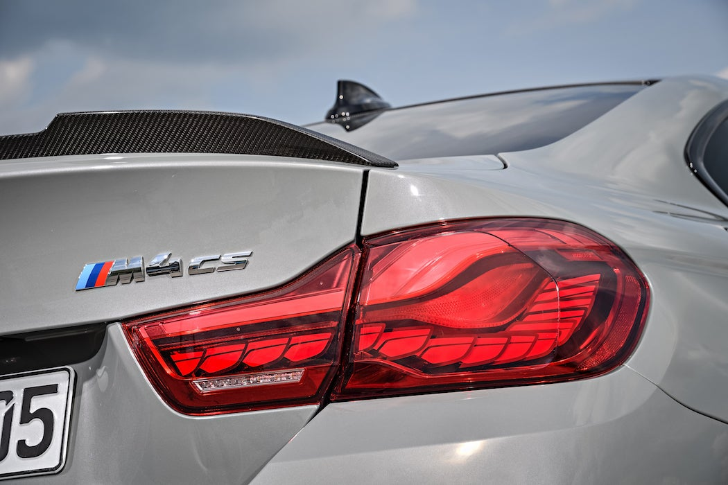 Rear tail light of the 2017 BMW M4 CS in Lime Rock Grey Metallic (Photo: Courtesy of BMW) | SWAGGER Magazine