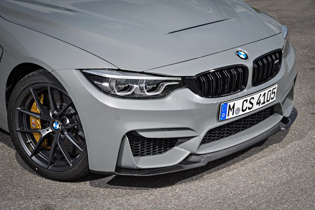 Front right side of the 2017 BMW M4 CS in Lime Rock Grey Metallic (Photo: Courtesy of BMW)