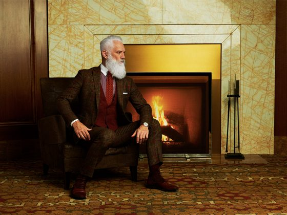 Original Fashion Santa Paul Mason - Swagger Magazine - Holiday Cover