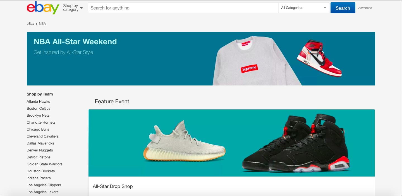 ebay All Star Weekend Drop