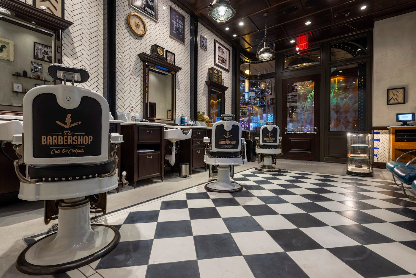 The Barbershop Cut and Cocktails at the Cosmopolitan Hotel in Las Vegas