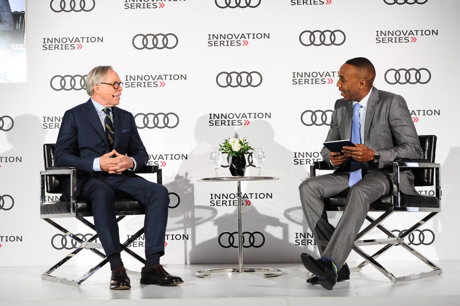 Tommy Hilfiger and Dwight Drummond at Audi Canada Innovation Series