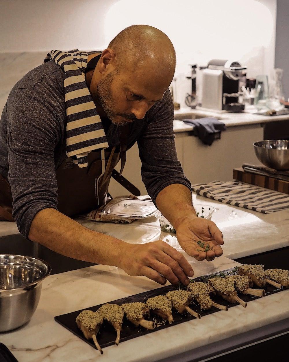 Pan-seared culottes food dinner chef jordan wagman