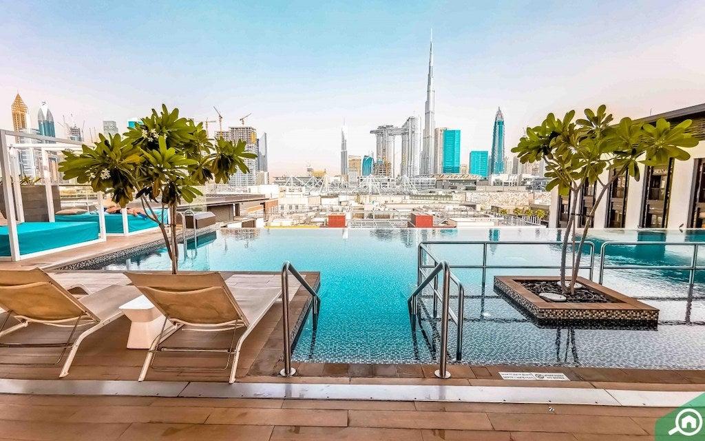 LOOKUP Rooftop Bar La Ville Hotel Dubai