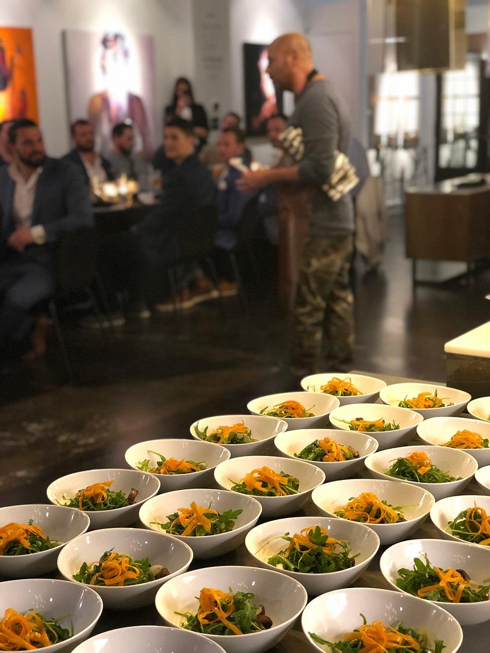 Jordan Wagman Mushroom Arugula Salad Food Dinner