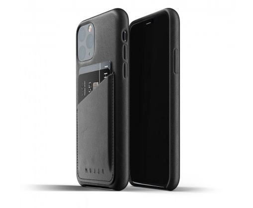 Mujjo Black Leather iPhone 11 Pro Case