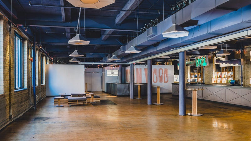 trendy and industrial event venue