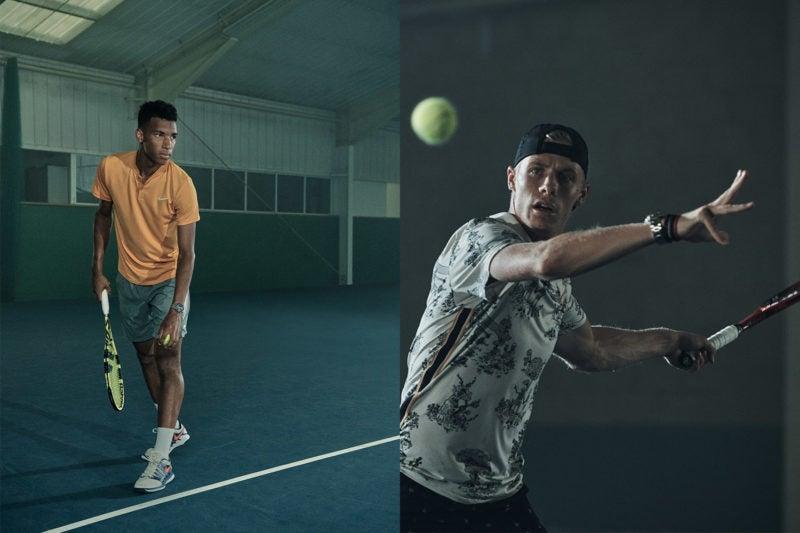 TAG Heuer's newest Tennis Star Brand Ambassadors, Felix Auger-Aliassime (left) and Denis Shapovalov. (Photo: TAG Heuer)
