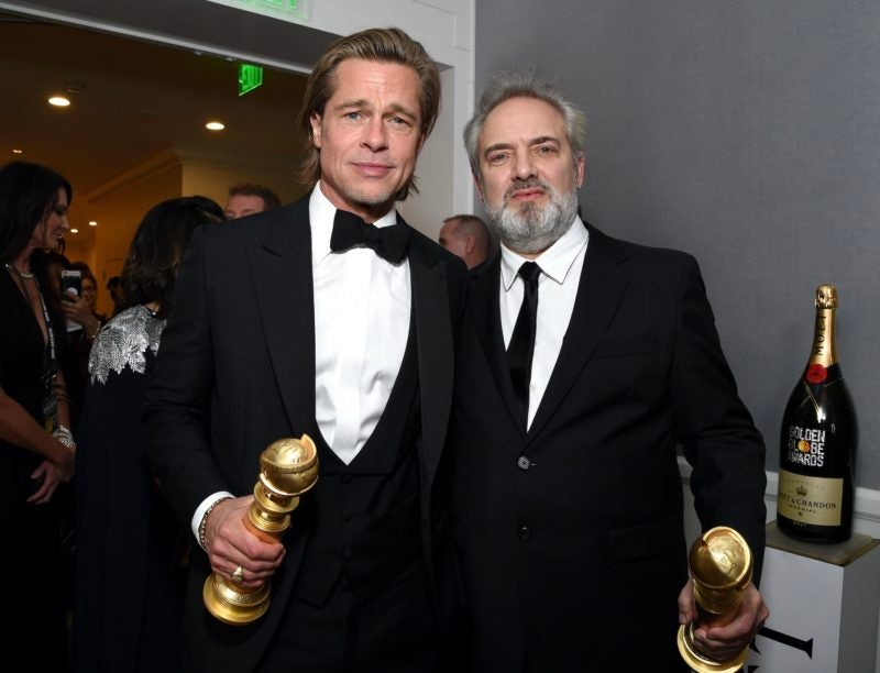 Brad Pitt Sam Mendes Golden Globes 2020 Moet Chandon