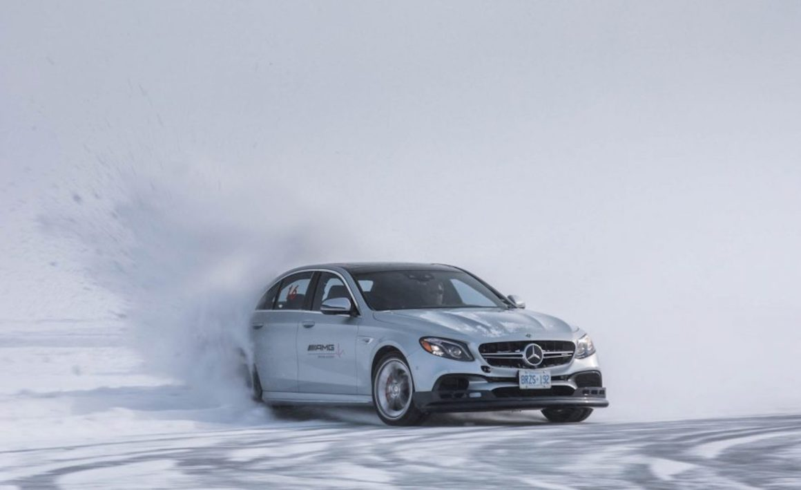 Mercedes Benz AMG Winter Sporting Driving Academy Drifting in Gimli Manitoba - Swagger