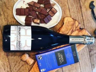 Valentines Day Chocolate and Wine