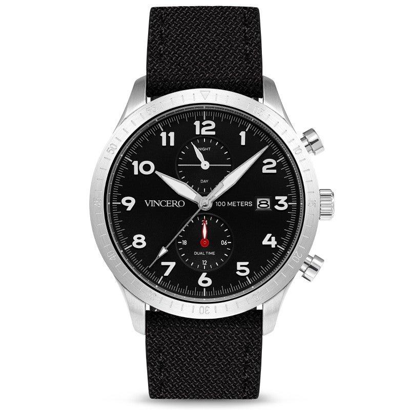 Watches: Vincero Altitude Silver Black