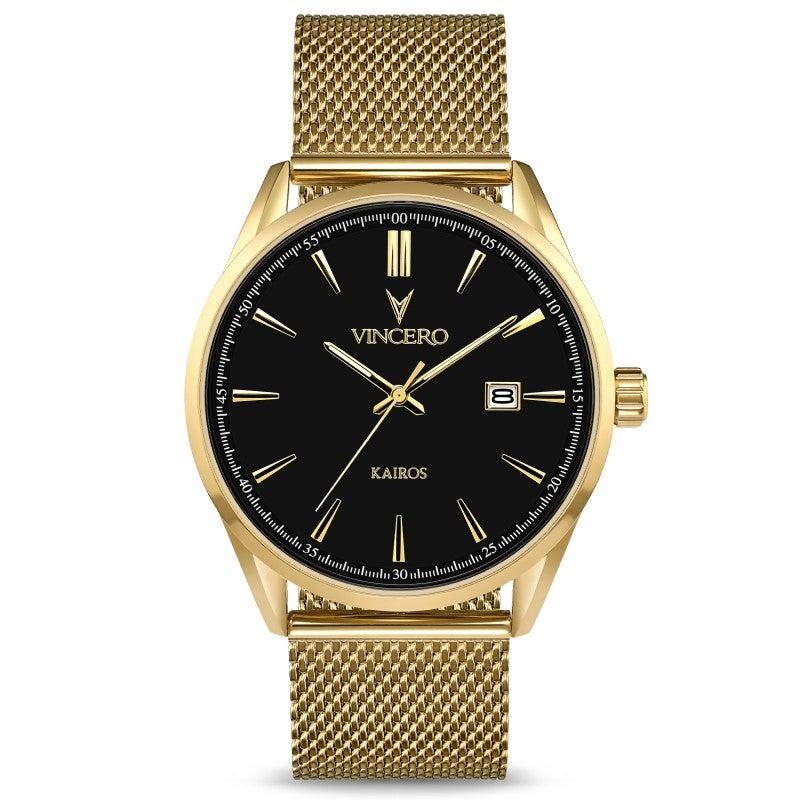 Timepiece: Kairos Black Gold Mesh