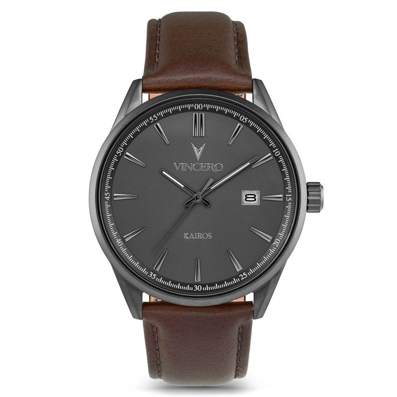 Watches:Kairos Gunmetal Walnut