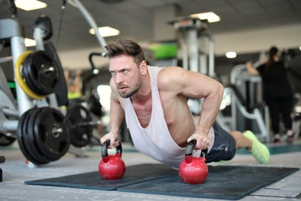 Physical Distancing: Man working out