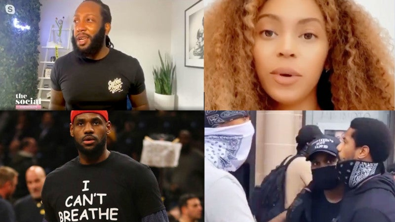 Black Lives Matter Justice for George Floyd Celebrities React